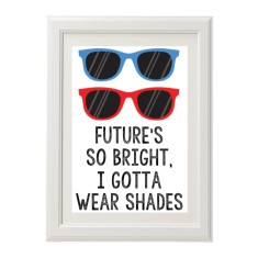 Future's so bright kids' print