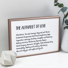 The Alphabet of Love Print