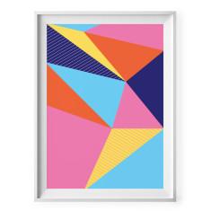 Bright geometric triangles print