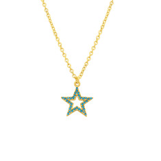 Turquoise good luck star necklace