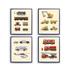 Kids' room prints (set of 4)