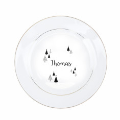 Christmas Dinner Personalised Gold Plate