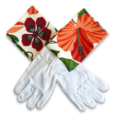 Protective Cuff leather gardening gloves in spice islands