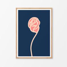 Modern rose art print