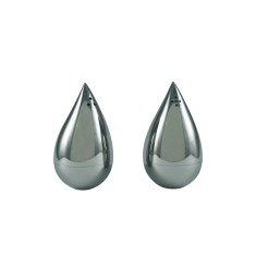 Faye Ligui drop salt and pepper pots in mirrored finish
