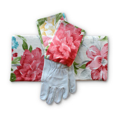 Gardener's kneeling pad & gloves in Colourburst Blooms
