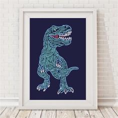 Neon Dinosaur Print
