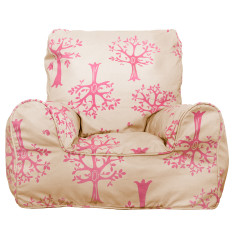 Pink orchard bean bag chair cover