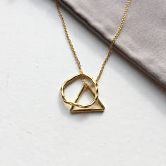 Triangle And Circle Symbol Pendant Necklace