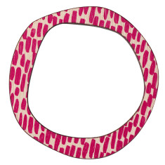 Pink lines reversible bangle