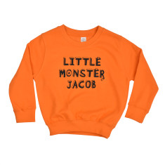 Personalised 'Little Monster' Children's Sweatshirt