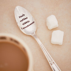 Personalised Vintage Silver Plated Teaspoon