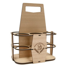 Personalised Oak 6 Pack Beer Carrier