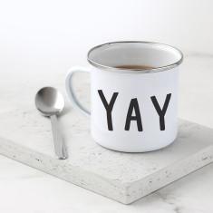 Yay Enamel Mug