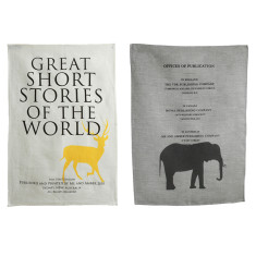 Tea towel set for animal lovers (set of 2)