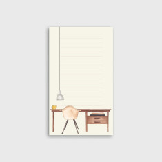 Desk Watercolour Illustrated Notepad