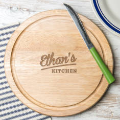 Round His Kitchen Personalised Chopping Board
