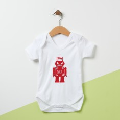 Personalised Robot Baby Grow
