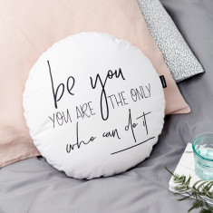 Be You Monochrome Round Cushion