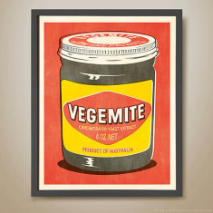 Vegemite pop art retro print (various colours)