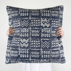 Tribal Cushion - Deep Blue