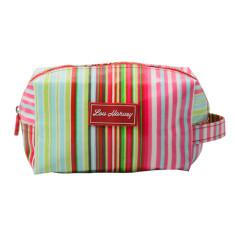 Box Cosmetic Bag in Selma Stripe print