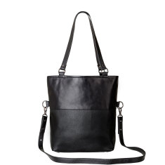 Wasteland leather bag in black