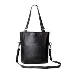 Wasteland leather bag in black