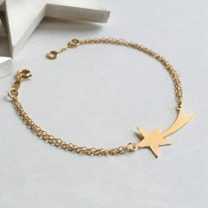 Personalised Gold Shooting Star Bracelet