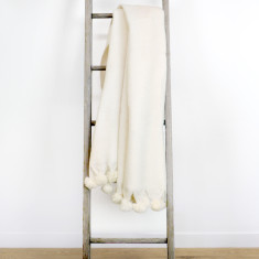 Anouk Pom Pom Throw Ivory