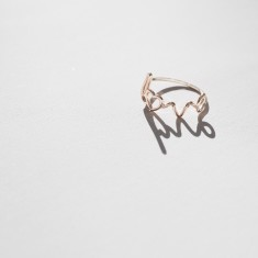 Love ring 18k gold vermeil