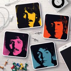 Beatles pop art coasters (set of 4)