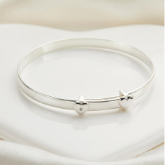 Personalised 'My First Diamond' Christening Baby Bangle