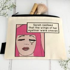 Personalised funny makeup bag