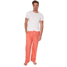 Gone fishing red men's pj pants