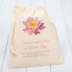 Personalised Mother's Day Drawstring Gift Bag