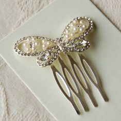 Set Of Two Butterfly Hair Combs