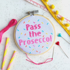 Pass The Prosecco Cross Stitch Kit
