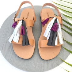 Grey Tassel Sandalaki Shoe