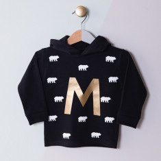 Personalised Bears And Initial Children's Hoodie