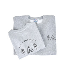 Dad And Me Adventure Club Grey Sweatshirt Jumper Set