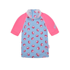 Girls' UPF 50+ Seashells Sunshirt Short Sleeve
