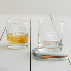 Personalised 'Will You Be My Usher?' Whisky Glass