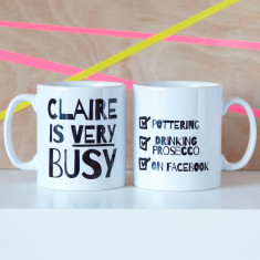 Personalised Very Busy Mug