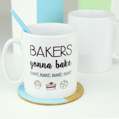 Bakers gonna bake emoji mug