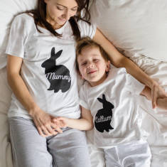 Personalised Easter Bunny Family Pyjamas (set of 2)