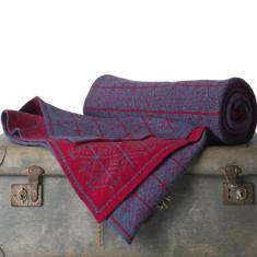 Merino Wool Blanket - Rustic Charm