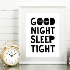 Good night sleep tight print