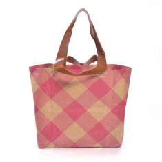 Shopper bag in gingham