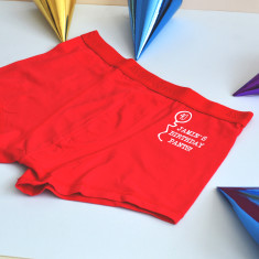 Personalised Birthday Underpants